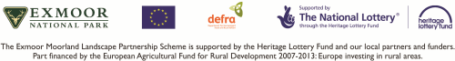 The Exmoor Moorland Landscape Partnership Scheme is supported by the Heritage Lottery Fund and our local partners and funders. Part financed by the European Agricultural Fund for Rural Development 2007-2013: Europe investing in rural areas.