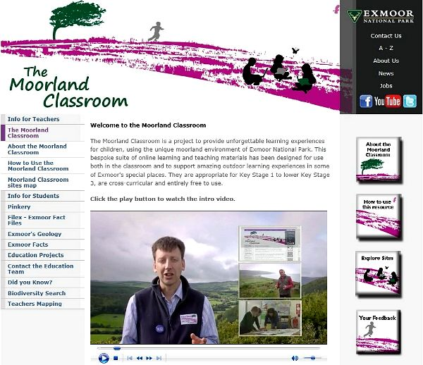 Moorland Classroom front page