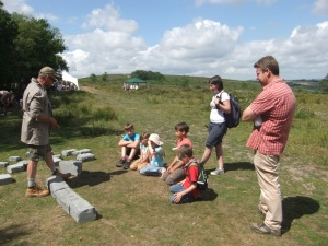 Learning how to build a dry stone wall with Russel Liversage