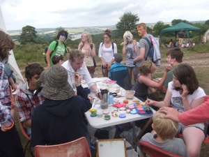 Exford Youth Club providing face painting