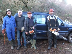 Janet Dixon and the Somerset Wildlife Trust volunteers.