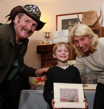 380_Junior winner Harry Adderley with Johnny Kingdom and Valerie Sherwin 2014_10_18